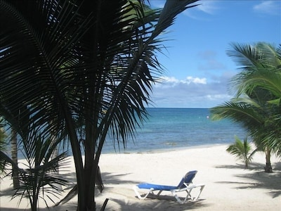 3 steps off the veranda, your toes are in the sand!