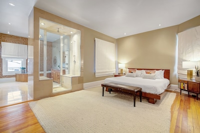 Master Bedroom with King Bed and Master Ensuite Bathroom
