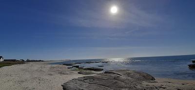 Vue imprenable sur l'océan. Paysage changeant au grès des marées.