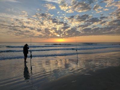 Peaceful morning on the beach