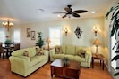 Comfortable seating for family. Includes a comfy sleeper sofa
