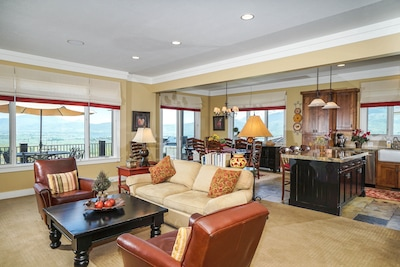 Views from Kitchen, dining & great room all create a wonderful gathering area!