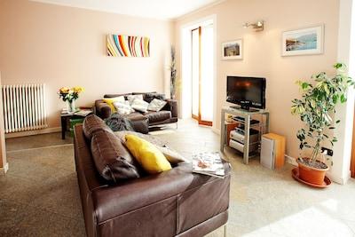 Stylish open plan living room