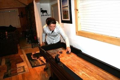 Shuffleboard in Game room