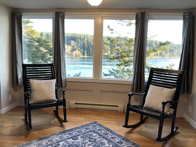 Twin rocking chairs in the upstairs bedroom. A perfect place to be.