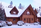 Front of Chalet in Winter
