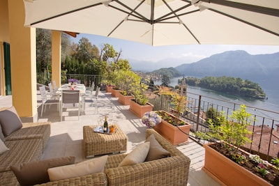 """The lake view from your private terrace here at   """"Residence Sala Comacina"""""""
