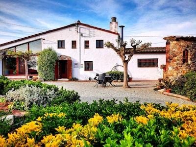 Casa rural de Can Micos en Riudarenes (Girona - Costa Brava)