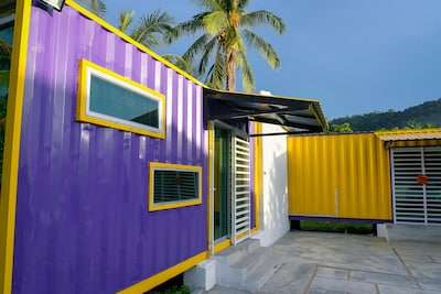 Purple Cabin exterior