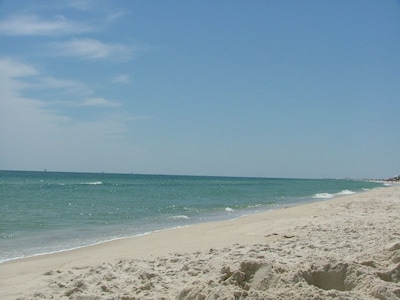 Enjoying the beach on a beautiful day like this!