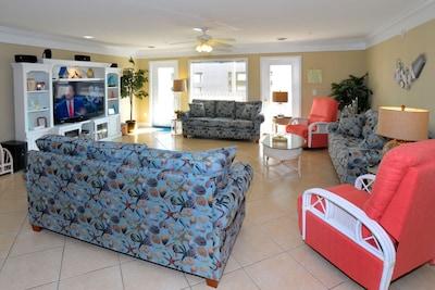 Living Room, 60 in HDTV