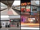 Train station,CVS,The Blue Pig ice cream, The Grandstan bar, Black Cow Coffee