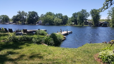 2 docks, great fishing and swimming.  Deep water for boats.