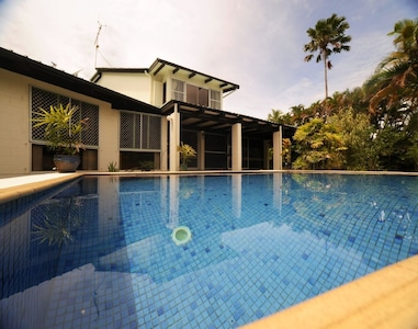 Spacious deck and private pool