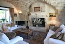 Sitting Room with views over vineyard and courtyard