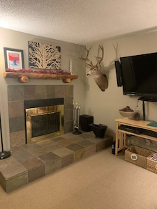 """Living room with 55"""" flat screen"""