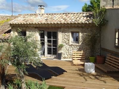 façade arrière avec terrasse