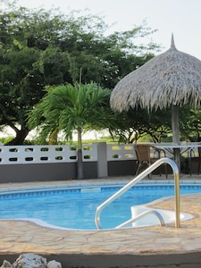 Your own private pool, special for a 1 to 2  bedrooms accommodation.
