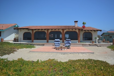 View of the front of the house from the beach