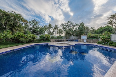 Pool just steps from your door.