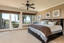 First master bedroom, located on the first floor with ensuite bath and porch