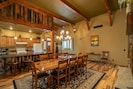 Spacious dining room conveniently accessible to the kitchen