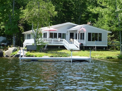 house from front boat dock