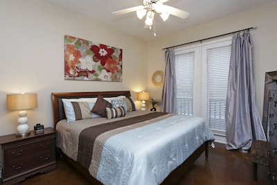 Large private bedroom with King size bed