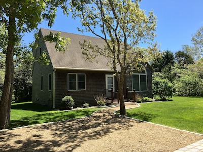 Large corner lot is tucked on a quiet, private dead-end road