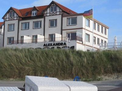 Ferienwohnung auf Wangerooge direkt am Strand, direkter Meerblick, für 2 Pers.