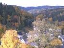 Schöne 3. Jahreszeit Ausblick von Ferienwohnung ins Tal von Pobershau