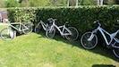 Quelques vélos mis à votre disposition pour des randonnées le long de l'YON