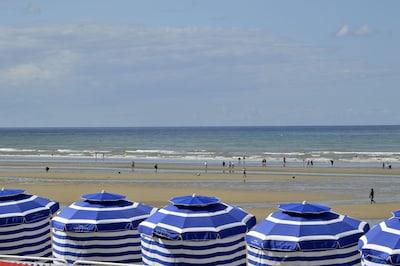 La plage de Cabourg