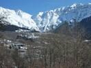 Vue sur le col de Valbuche en hiver depuis le chalet