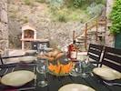Repas barbecue en terrasse...