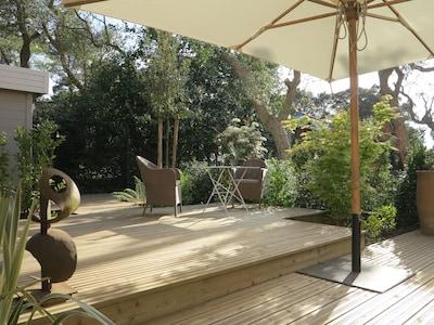 La terrasse-jardin ou le jardin-terrasse, comme vous voulez!