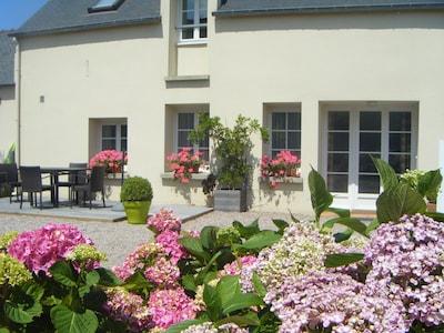 façade et terrasse