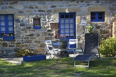 terrasse table et bain de soleil