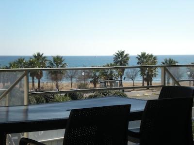 terrasse vue sur la mer