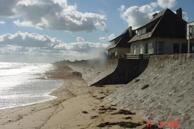 La villa vue de la plage