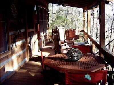 Front porch and outside dining