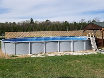 The pool is 23'x43' and is 4 feet deep.