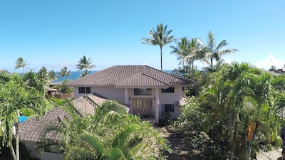 Front of home, oceanview awaits once you enter.