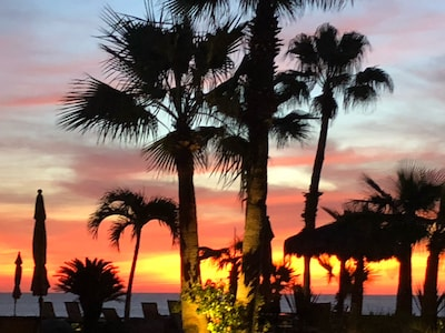 My favorite view from our condo! Sunrise from your bed or patio!