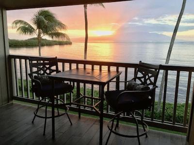 From lanai - sunrise over Maui