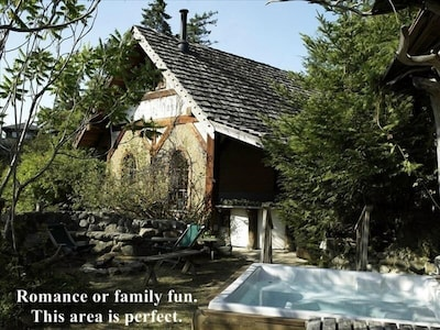 Romance of family fun. This area at the Gnome House is perfect.