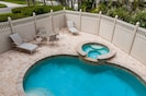 Private pool. View from the lanai