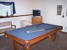 Bedroom/Den with Pool Table and Two Futons