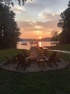 Spend your evening watching the sun set and making s'mores