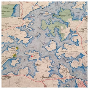 Map of Lake Chatuge - red dot is our property GREAT LOCATION!